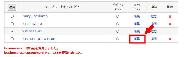 メニュー バー html